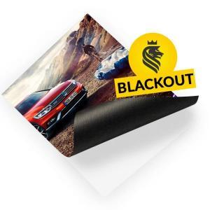 ADESIVO METRO QUADRADO Blackout cola preta ou cinza  4x0   largura máxima é de 1,20. Medidas maiores que estas são feitas sobreposições (emendas).