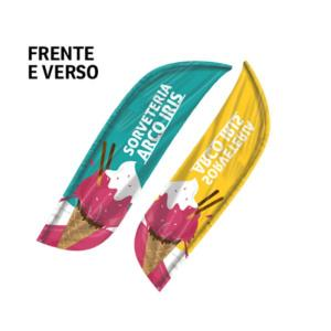 Bandeira Avulsa Wind Banner Microfibra 70x2300mm 4x4  Costura overlock Frente e Verso