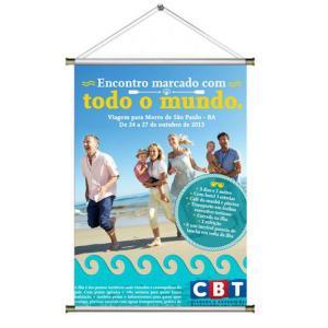 BANNER BRILHO 50x80 CM LONA 380G 50x80 CM 4x0  Bastão e barbante