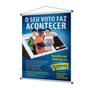 BANNER BRILHO 60x90cm LONA 380G 60x90cm 4x0  Bastão e barbante