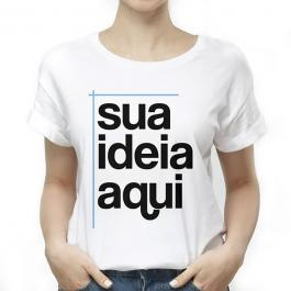 Camisa Personalizada Malha PV (poliester) BABY LOOK, P, M, G,GG, 4x0