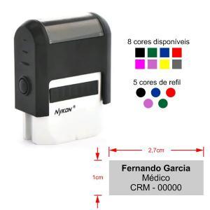 Carimbo Automático Color - Assinatura  Nykon 301    Tamanho da arte: 2,7x1,0cm