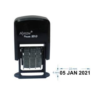 Carimbo Automático - DATADOR  Nykon 321D    Tamanho da arte: 22X4MM