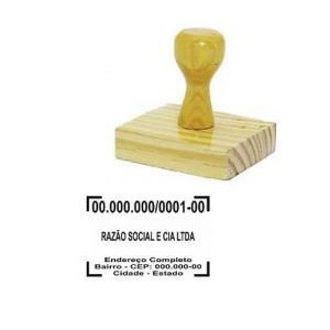 Carimbo Tradicional - CNPJ  Madeira    tamanho da arte 5,5X3,5cm
