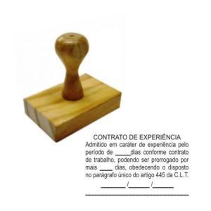 Carimbo Tradicional - CONTRATOS  Madeira    tamanho da arte 6X4cm