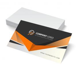 Cartão de visita Couchê 300g 9x5cm 4x0 Laminação Fosca e Verniz Localizado Frente Corte Reto