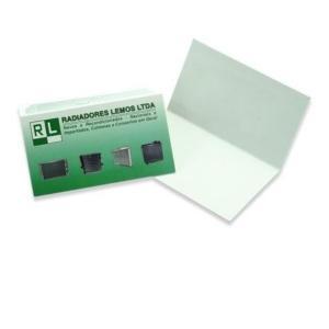 Cartão Duplo Couche 250g 9x10cm 4x0 Verniz Total Brilho Frente Corte Reto