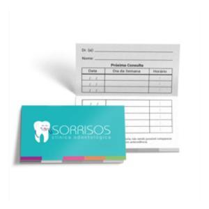 Cartão Duplo Couche 250g 9x10cm 4x1 Verniz Total Brilho Frente Corte Reto